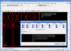 AllyCAD Tolerance Editor