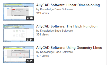 AllyCAD Tutorial Videos