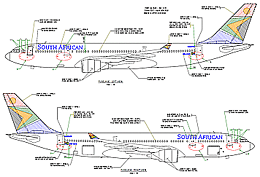 A330-200 Livery drawing